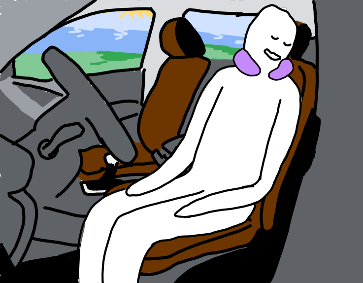 It feels so good to sleep with a neck support on a plane or in a car